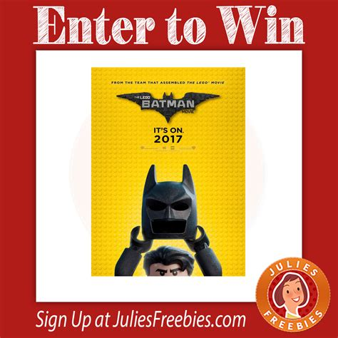 Movie Sweepstakes - the lego batman movie sweepstakes julie s freebies