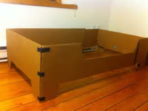 Cardboard Bed Frame Diy Projects Diy Toddler Bed With Birch Plywood