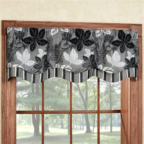 Grey Window Valances Maple Leaf Platinum Gray Layered Window Valance