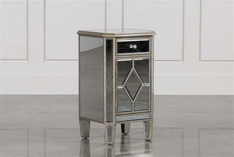 nachttisch verspiegelt hayworth mirrored nightstand living spaces
