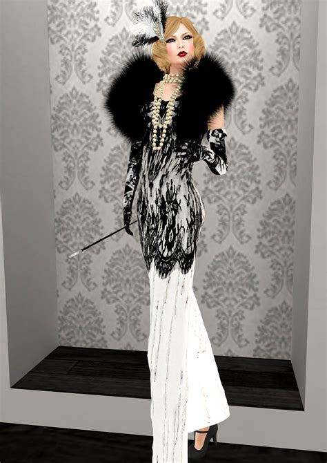 Black White Show Me Dress 25044 opium evolution show to feature glam dreams gatsby gown
