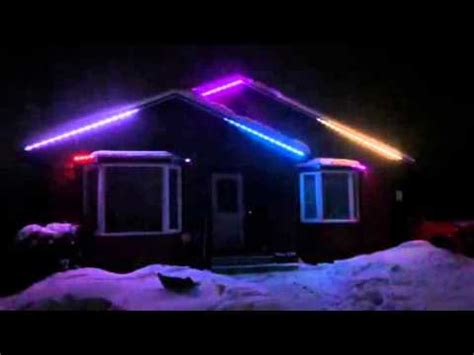 animated multi colored exterior led house lights