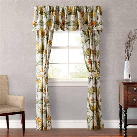 tommy bahama drapes tommy bahama birds of paradise 4 piece window panel set