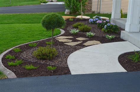 shakopee planting beds  curb edging ns landscapes