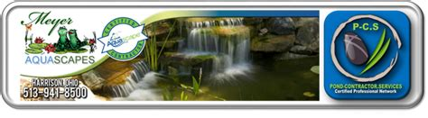 meyer aquascapes ohio oh pond contractors builders installers maintenance services pond contractor