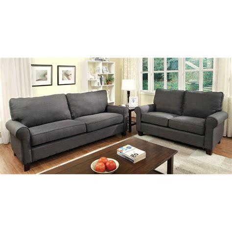 furniture of america sofa reviews furniture of america edmunds 2 flax sofa set in grey
