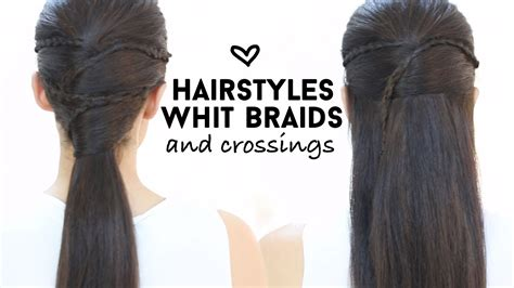 hairstyles with braids patry jordan easy hairstyles with braids and crossings youtube