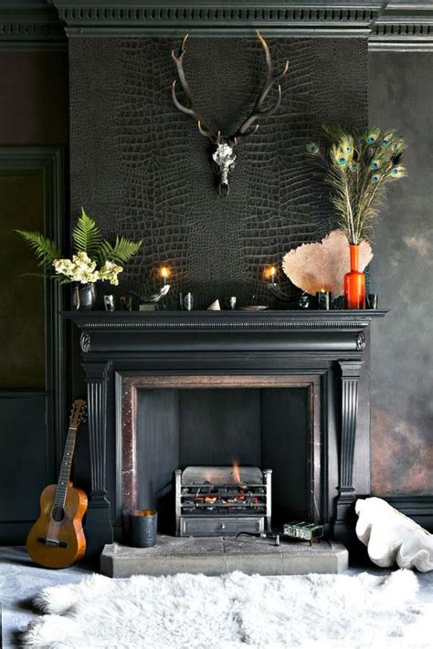 Black Painted Brick Fireplace by 25 Best Ideas About Black Fireplace On Black
