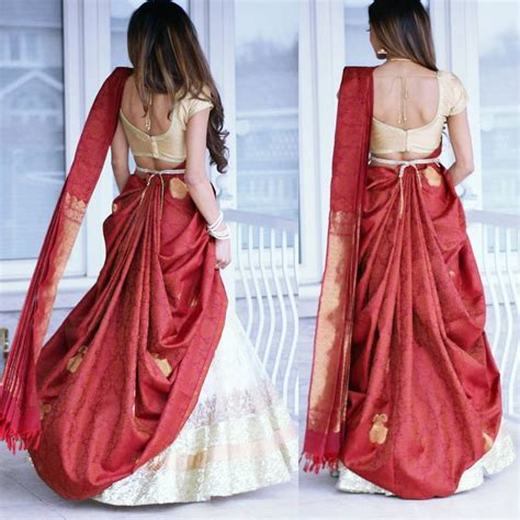 how to drape lengha saree de 25 bedste id 233 er inden for saree p 229 pinterest saree