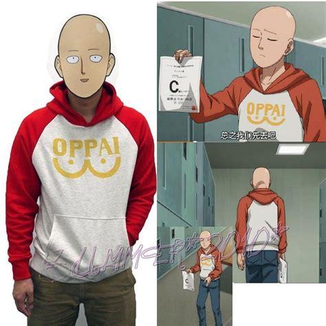 punch man saitama oppai hoodie hooded sweater