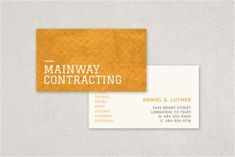 business card templates general contractors general contractor business card template inkd