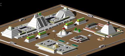 aztec city  dwg model  autocad designs cad