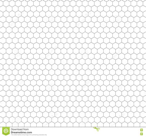 hexagonal pattern grid gray hexagon grid seamless pattern stock illustration