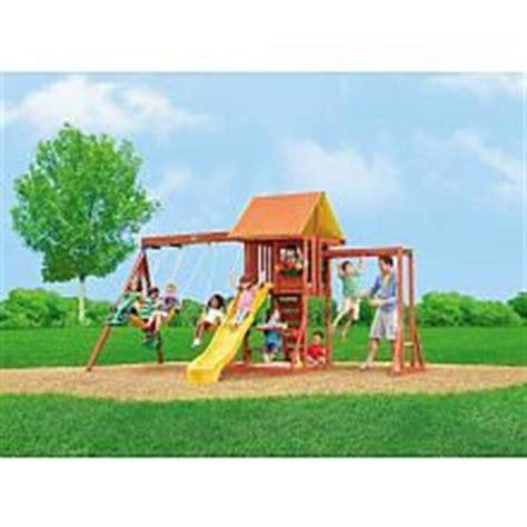 cedarbrook swing set big backyard cedarbrook wood gym set toys woods and