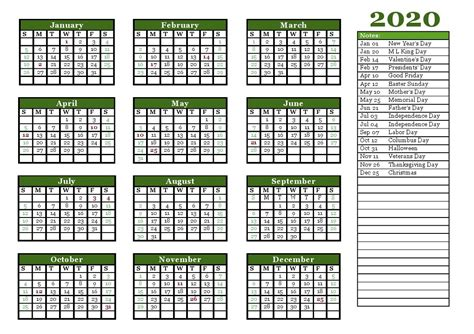 yearly calendar template full landscape  potrait calendar shelter