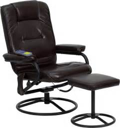 heated office chair brown leather massaging heated recliner home office chair
