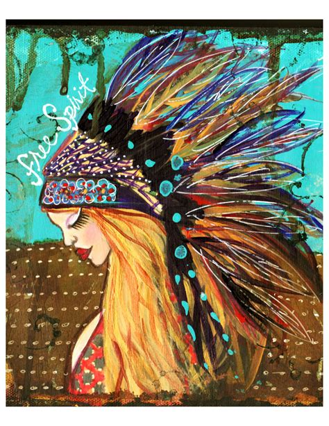 printable fine art free spirit ll bohemian girl fine art print