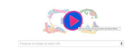 doodle do de hoje gilbert baker 233 homenageado pelo doodle do br