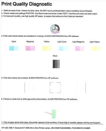 printable jealousy quiz hp deskjet gt 5810 5820 printers printing self test