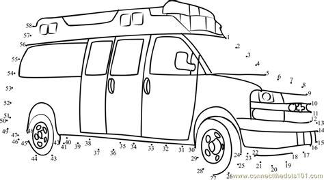 printable dot to dot cars ambulance rescue vehicle dot to dot printable worksheet