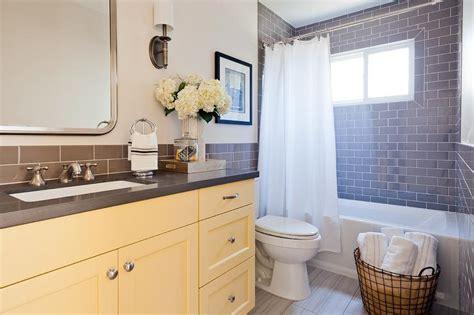 yellow bathroom vanity yellow bath vanity with gray quartz countertop transitional bathroom