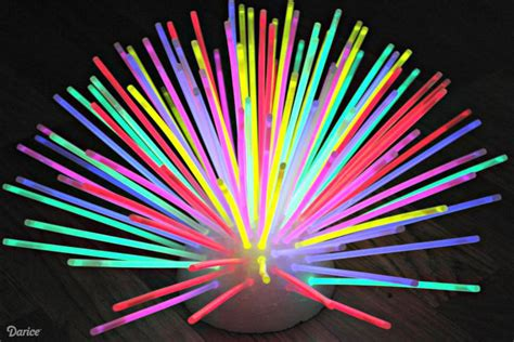 Light Sticks Vase by Glow In The Glow Stick Centerpiece The Cards We Drew