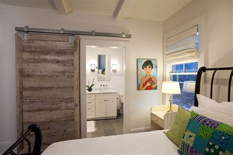 Bedroom Barn Doors Smart Barn Door Saves Up Space In The Small Bedroom Decoist