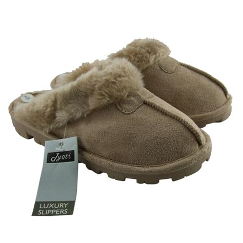 womens slippers size 7 womens faux suede mules slipper mule slippers