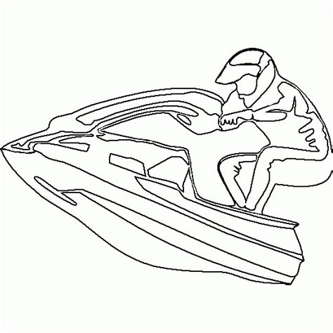 jet ski coloring pages to print drawing sea scooter cars and vehicles coloring to print