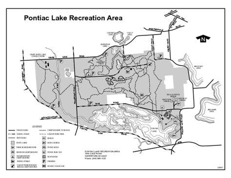 where is pontiac michigan on the map pontiac lake recreation area michigan site map pontiac