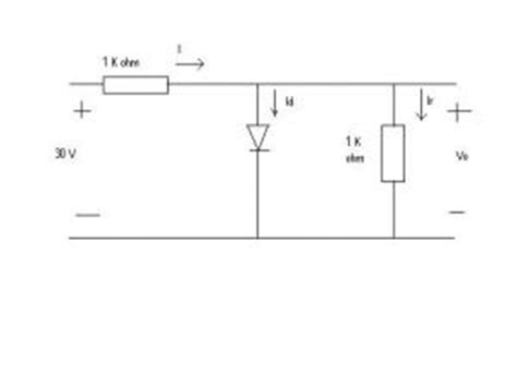 ideal diode series resistance question 1 determine the current id and the diode chegg
