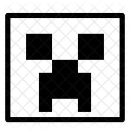 minecraft icon  glyph style   svg png eps