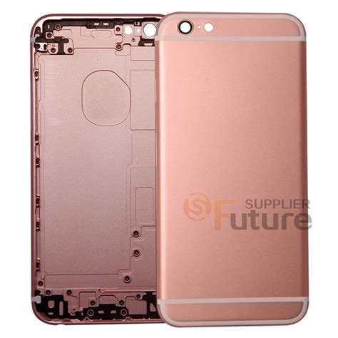 Iphone 6 Aluminium Back Gold iphone 6s back cover without apple logo 6th aluminum gold