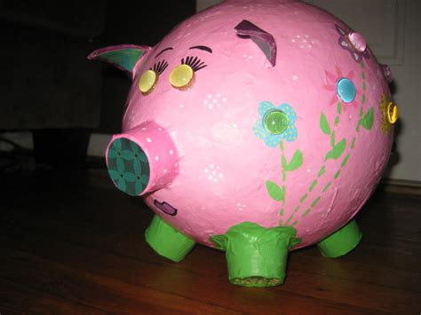 How To Make A Paper Mache Piggy Bank - paper mache piggy bank image search results