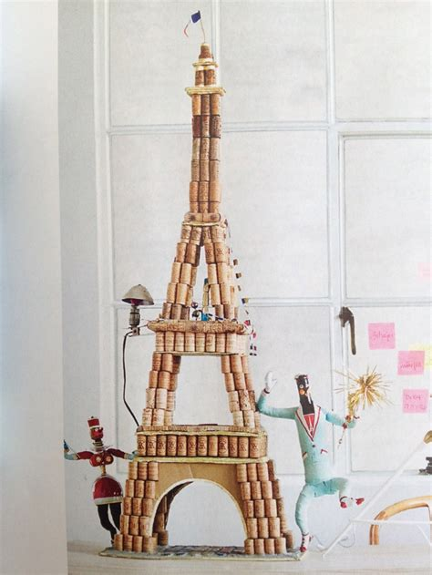 eiffel tower crafts for diy cork eiffel tower for my niece towers