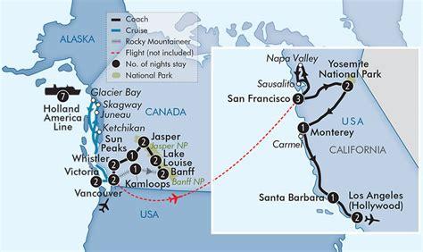 map of west coast usa and canada rockies odyssey alaska cruise with west coast usa apt