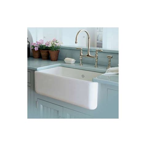 shaw kitchen sinks rohl rc3018wh white shaws 30 quot single basin farmhouse