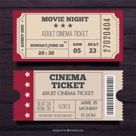 retro ticket place card template ticket vectors photos and psd files free