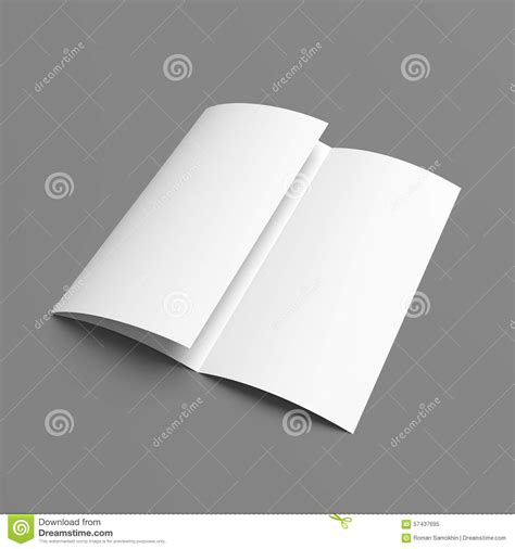 Tri Fold Brochure Paper Stock - leaflet blank tri fold white paper brochure stock photo