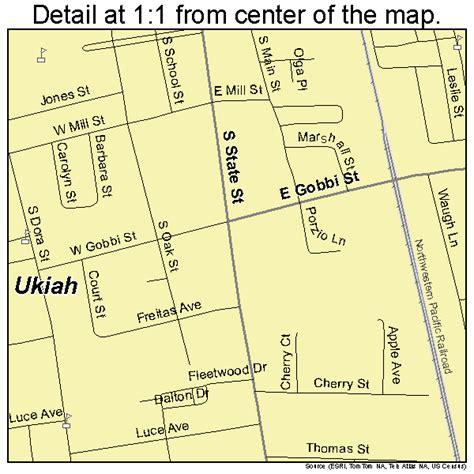 map ukiah ca ukiah california map 0681134
