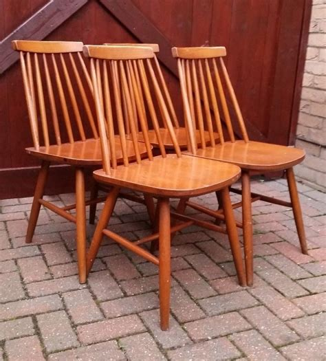 style dining chairs ebay set of 4 mid century ercol style wooden spindle back