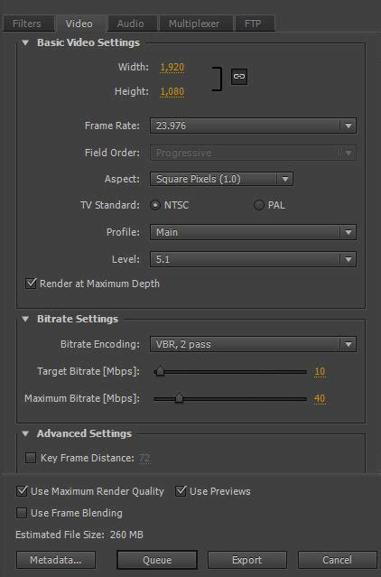 adobe premiere cs6 export settings how to export hd video in premiere pro cs6 cs5 5 and cs5