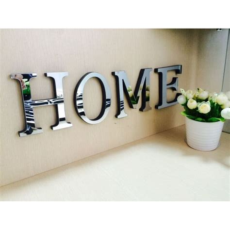 home decor logos wedding love letters english 3d mirror wall stickers