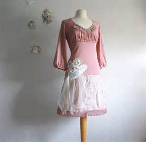 shabby chic style clothes pink shabby chic dress upcyced s clothing by
