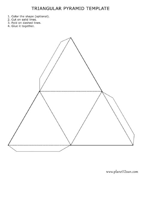 Triangular Pyramid Template