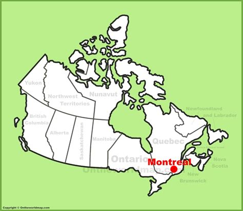 map canada montreal montreal location on the canada map