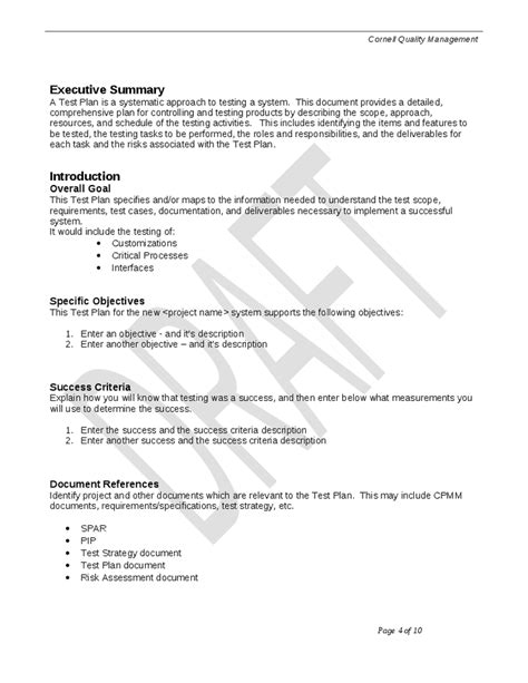 best photos of quality assurance plan outline quality