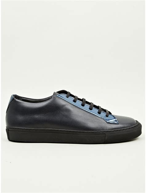 raf simons mens low minimal sneakers in blue for black lyst