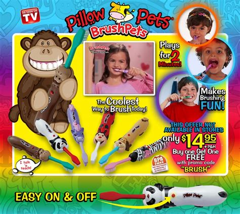Pillow Pets Toothbrush by The Scimark Report Brushpets