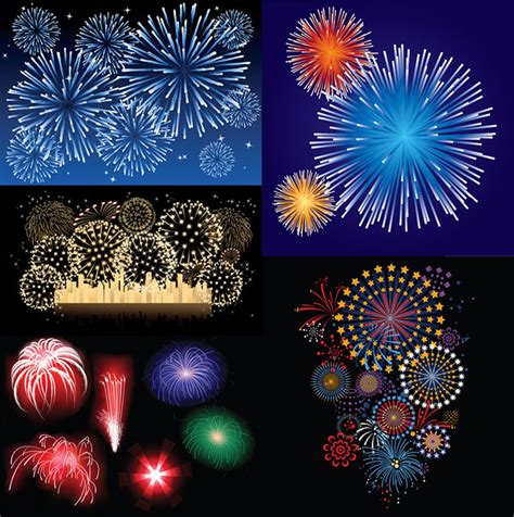 new year firecrackers vector new year fireworks vector material free vector